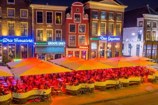 Groningen, Groningen, Netherlands, night, lights