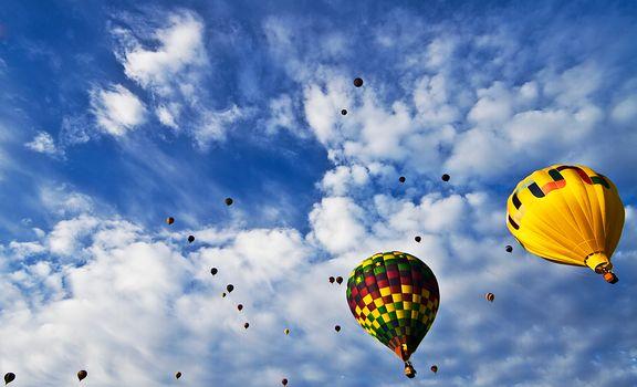 Balloon Fiesta, sky, Balloons