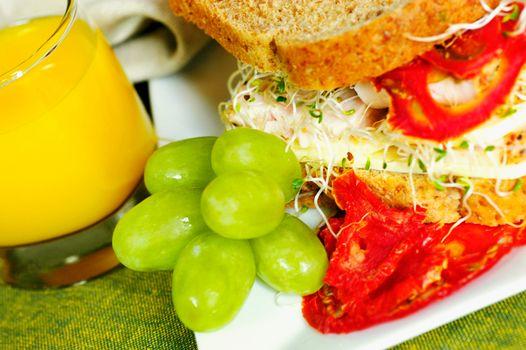 food, Food, cookery, Food, sandwich, bread, grapes, juice