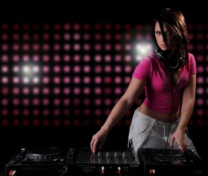 girl DJ, headphones, Music