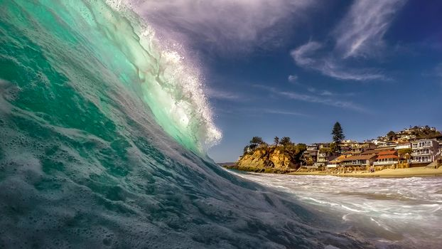 Victoria Beach, Laguna Beach, California, Pacific Ocean, Laguna Beach, California, Pacific, ocean, wave, coast