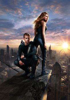 Divergent, fantasy, Detective, Adventures, film, film, movie, frame of film, Poster