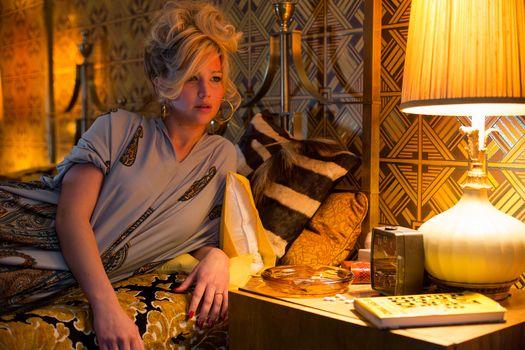 American Hustle, film, frame of film, drama, comedy, Jennifer Lawrence