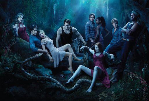 True Blood, TV series, Poster, film, film, Fantasy, thriller, drama, melodrama, Detective