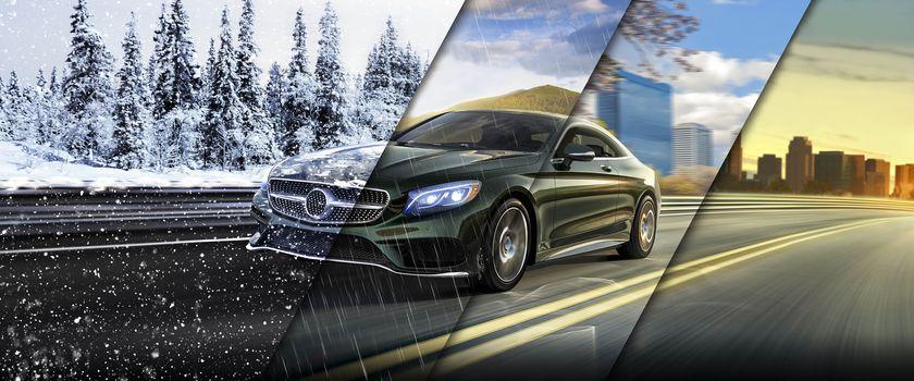 Mercedes-Benz, Season 4, winter, SPRING, summer, autumn, road, snow, rain