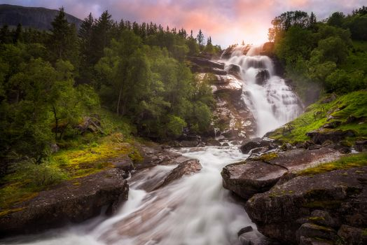 Kisenok рулит, водопад, лес, поток, камни, пейзаж, природа