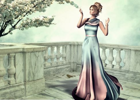Fantastic girl, Girls, fantasy girl, Fantasy, Creativity, fantasy, hairstyle, clothes, art, style