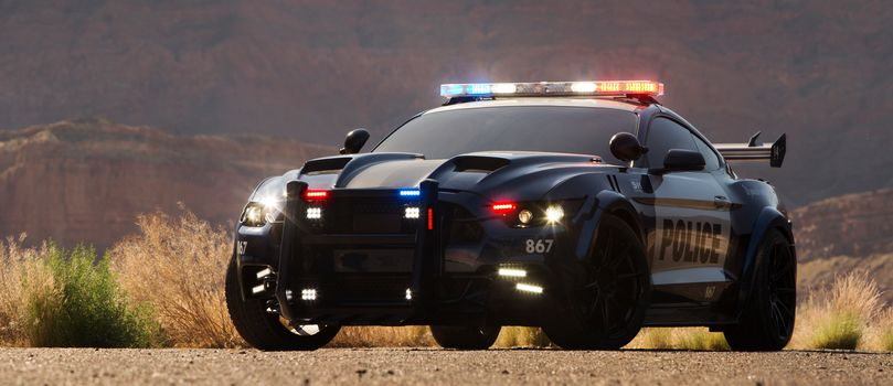 Transformers 5 The Last Knight, Transformers, Custom Ford Mustang Police Car, Barricade, Ford Mustang