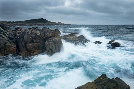 Cape Breton Island, Canada, Atlantic Ocean, Cape-Breton Island, Canada, Atlantic Ocean, ocean, rock, coast