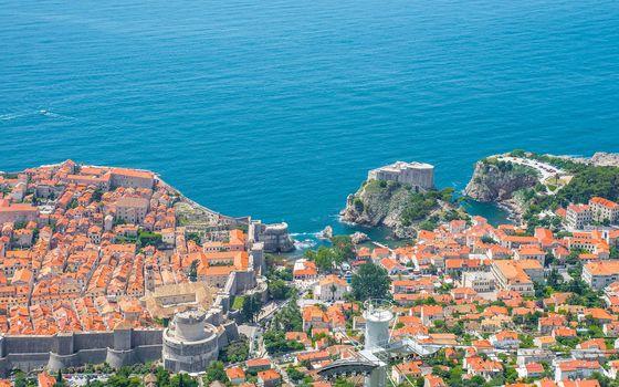Dubrovnik, Croatia, Adriatic Sea, Dubrovnik, Croatia, Adriatic Sea, building, sea, coast, view