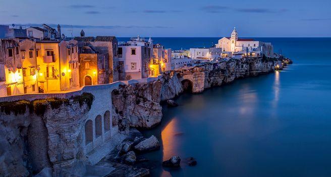 Vieste, Apulia, Italy, Adriatic Sea, Vieste, Apulia, Italy, Adriatic Sea, rock, building, sea