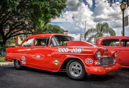 Chevrolet Bel Air, Chevrolet, Bel Air, красный, ретро
