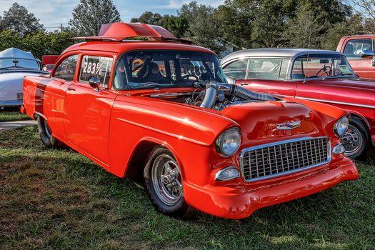 Chevrolet Bel Air, Chevrolet, Bel Air, красный, классика