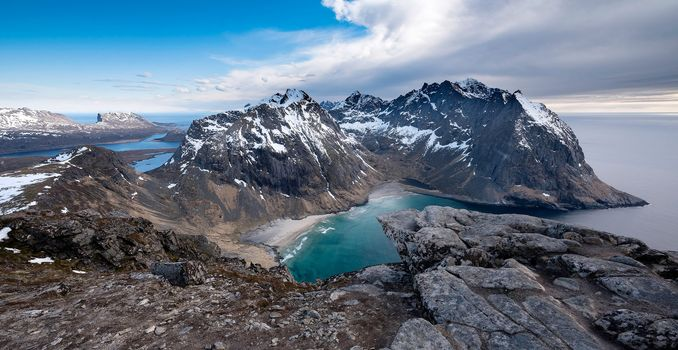 Lofoten, Flakstad, Nordland, Norway, Norwegian Sea, Lofoten, flakstad, Nordland, Norway, Norvezhskoe Sea, the mountains, sea, coast