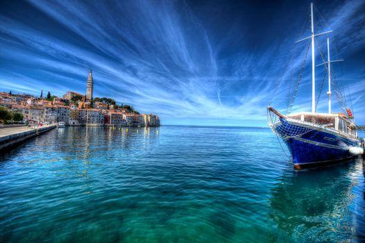 Rovinj, Istria, Croatia, Adriatic Sea, Rovinj, Istria, Croatia, Adriatic Sea, sea, embankment, building, yacht