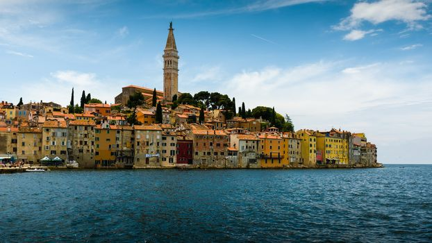 Rovinj, Istria, Croatia, Adriatic Sea, Church of St Euphemia, Rovinj, Istria, Croatia, Adriatic Sea, Cathedral of Saint Euphemia, sea, building