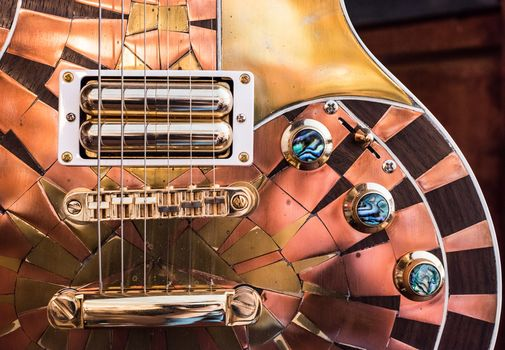 electric guitar, guitar, macro