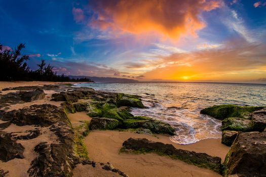 Hawaii, Pacific Ocean, Hawaii, Pacific Ocean, ocean, sunset, pobeoezhe