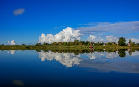 Baltic Sea, Germany, Baltic Sea, Germany, lagoon, clouds, reflection