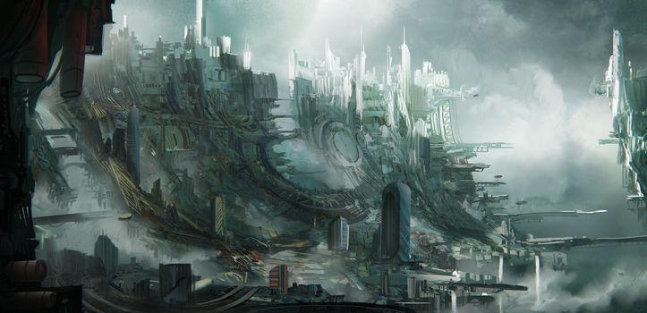 Leon Tukker, Sky slums, city, slum