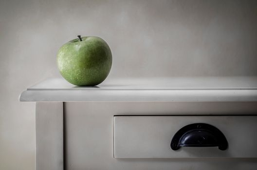 green apple, An Apple, minimalism
