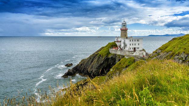 ocean, Bailey Lighthouse, Howth Head, Dublin, Ireland