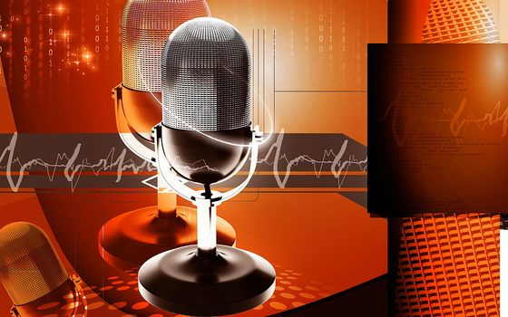 3d, colour, effects, abstract, Background, three-dimensional, technology, imagination, digital, Graphics, audio, broadcast, microphone, music, song, speaker, illustration