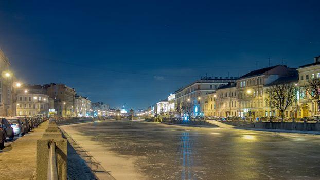 Fontanka river, St. Petersburg