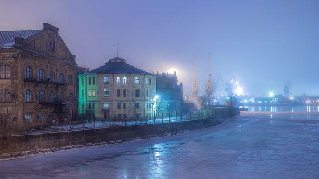 Winter fog, St. Petersburg