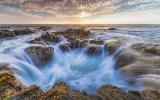 Amusement park Vavaloli, Pele Kona Pedestal, Sunset, Hawaii, Big Island, rocks, Kailua-Kona, landscape, beach, sea, Coast, ocean, sunset