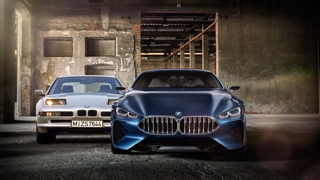 BMW, Концепция BMW 8-Series, 2017, BMW, концепт-кар, новая, старая, помещение, свет