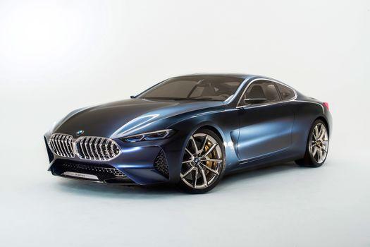 BMW, Концепция BMW 8-Series, 2017, BMW, концепт-кар, купе, диски, Supporty, фон