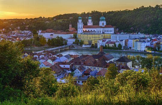 Passau, Le Danube, Bayern, Allemagne, rivière