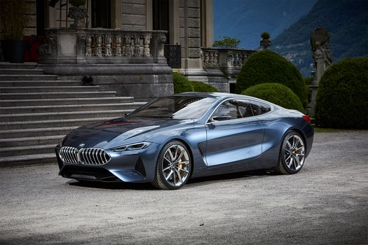 BMW, Концепция BMW 8-Series, 2017, BMW, концепт-кар, купе, лестница, кусты