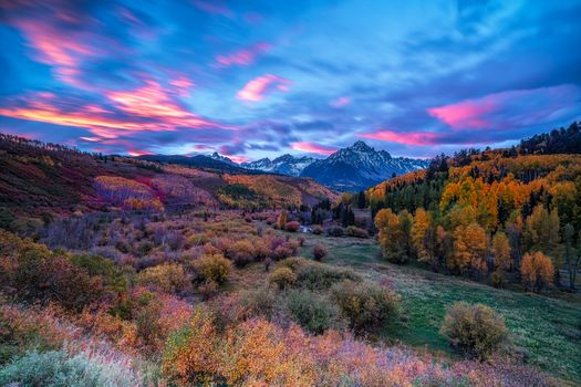 San Juan Mountains, Colorado, autumn, the mountains, trees, forest, landscape