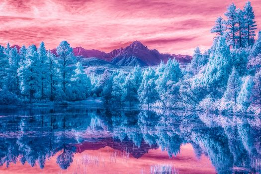 San Juan Mountains, Colorado, lake, the mountains, trees, forest, landscape
