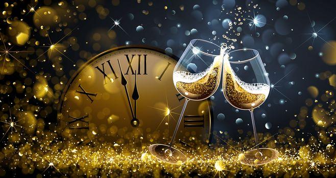 Navidad, fondo, diseño, elementos, fondos de pantalla de Año Nuevo, nuevo año, nuevo estilo, decoración Novogodnyaya, juguetes, ornamentación, horas, champán