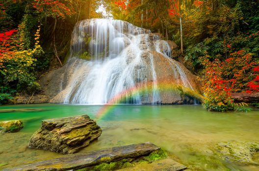 waterfall, Thailand, autumn, trees, landscape