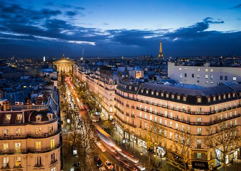 Paris, France, Paris, city, night, lights