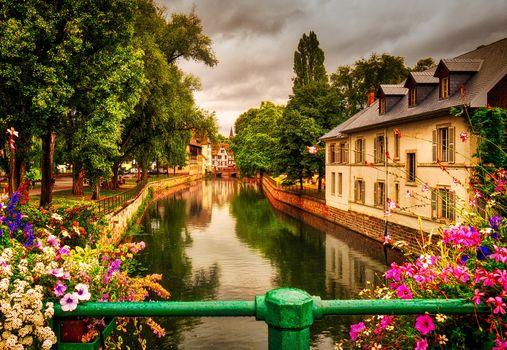 Strasbourg, France, Rhine