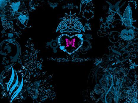 Herzen, Herz, Valentine, Valentine, Abstraktion, Hintergrund, Farbe, Form, Textur, fraktal, Tapeten