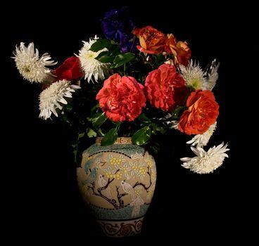 flowers, bouquet, vase, flora