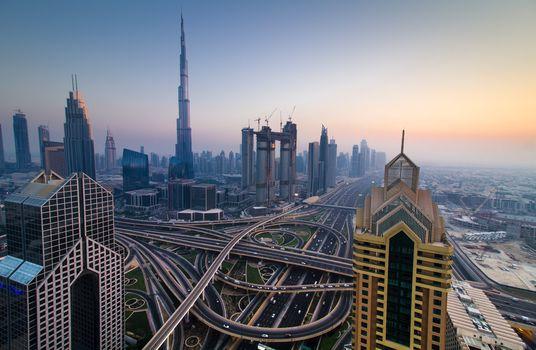 Burj Khalifa, Dubai, Burj Khalifa, Dubai, dusk