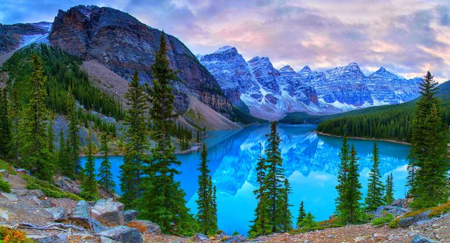 Lake Moraine, Canada, Lake Moraine, alberta, Canada, lake, the mountains, trees, rock, landscape