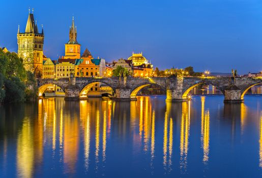 Charles Bridge, Prague, Czech Republic, River Vltava