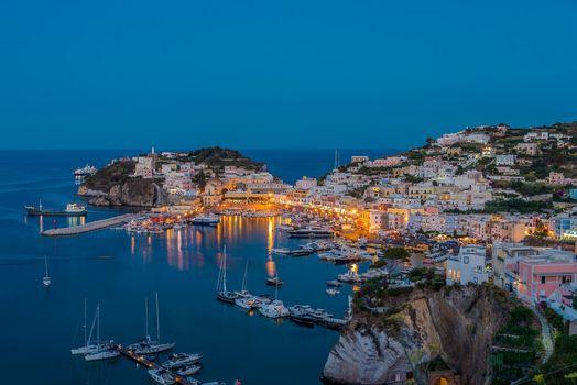 Ponza Island, Italy, Ponza Island, Italy, city, dusk