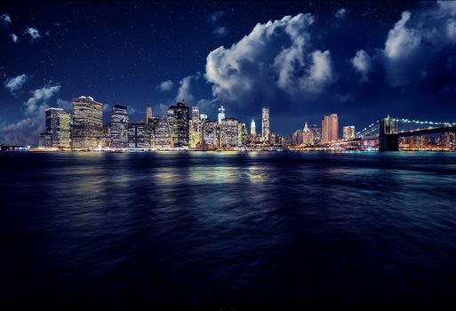 Manhattan, Manhattan, New York, night