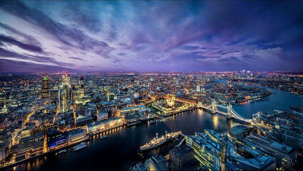 London, United Kingdom, city, dusk, sunset