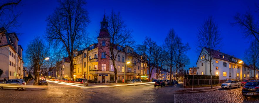 Berlin, Germany, city, night, lighting, at home, road, illyuminatsiya, view