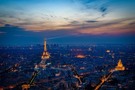 Paris, France, Paris, city, night, night city